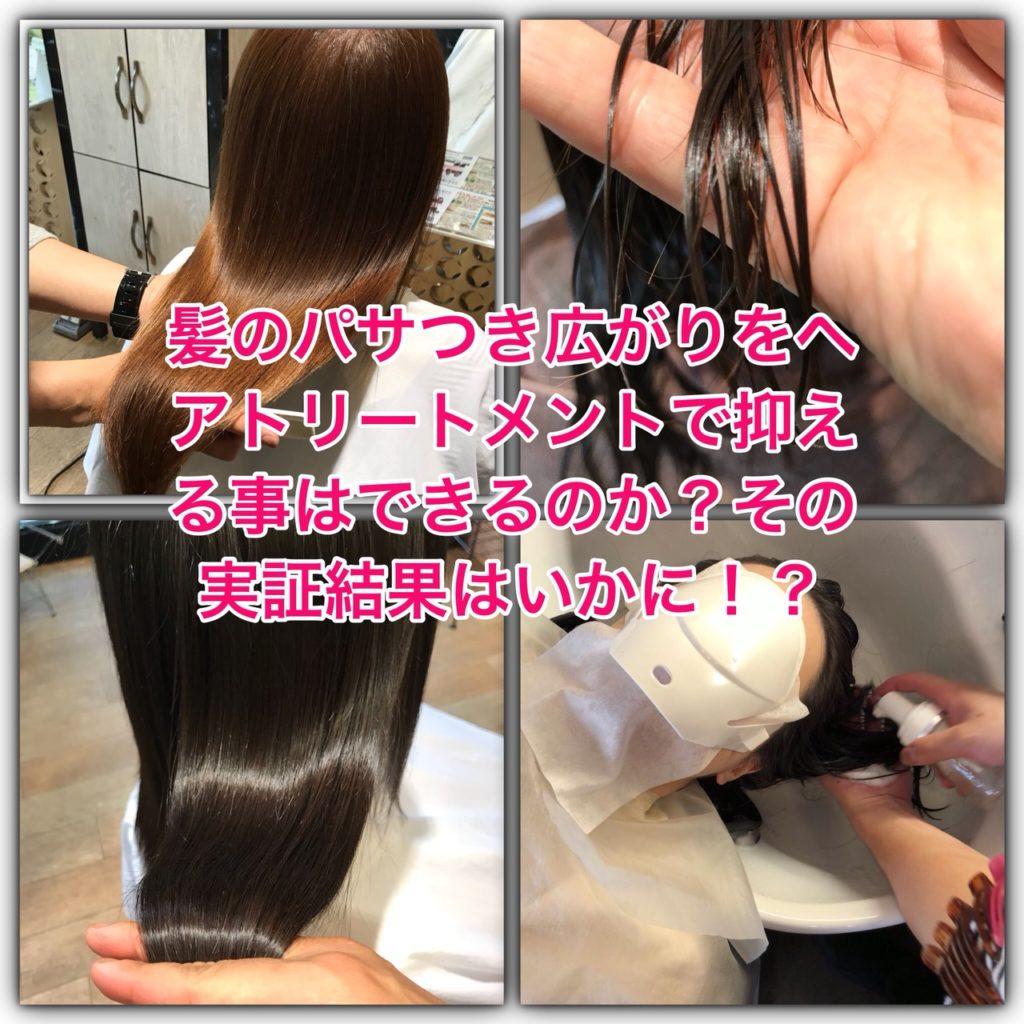 髪のパサつき広がりをヘアトリートメントで抑える事はできるのか?その実証結果はいかに!?