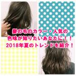 髪の毛のカラー・人気の色味が知りたいあなたに!!2018年夏のトレンドを紹介!